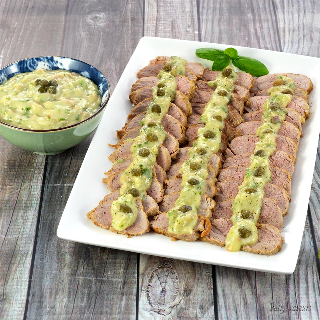 Pork Tenderloin Vitello Tonnato Style