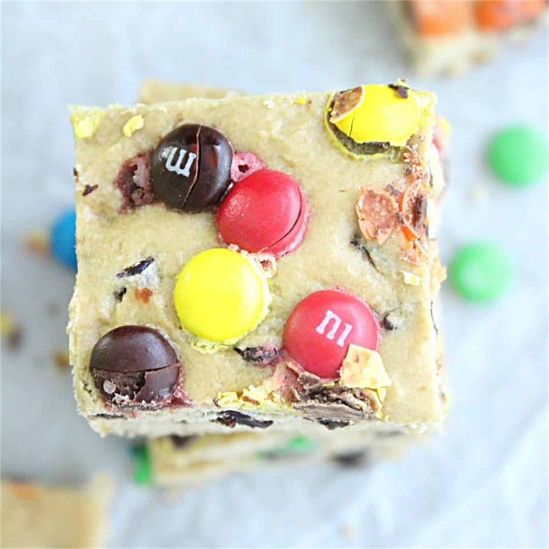 M & M Cookie Bars