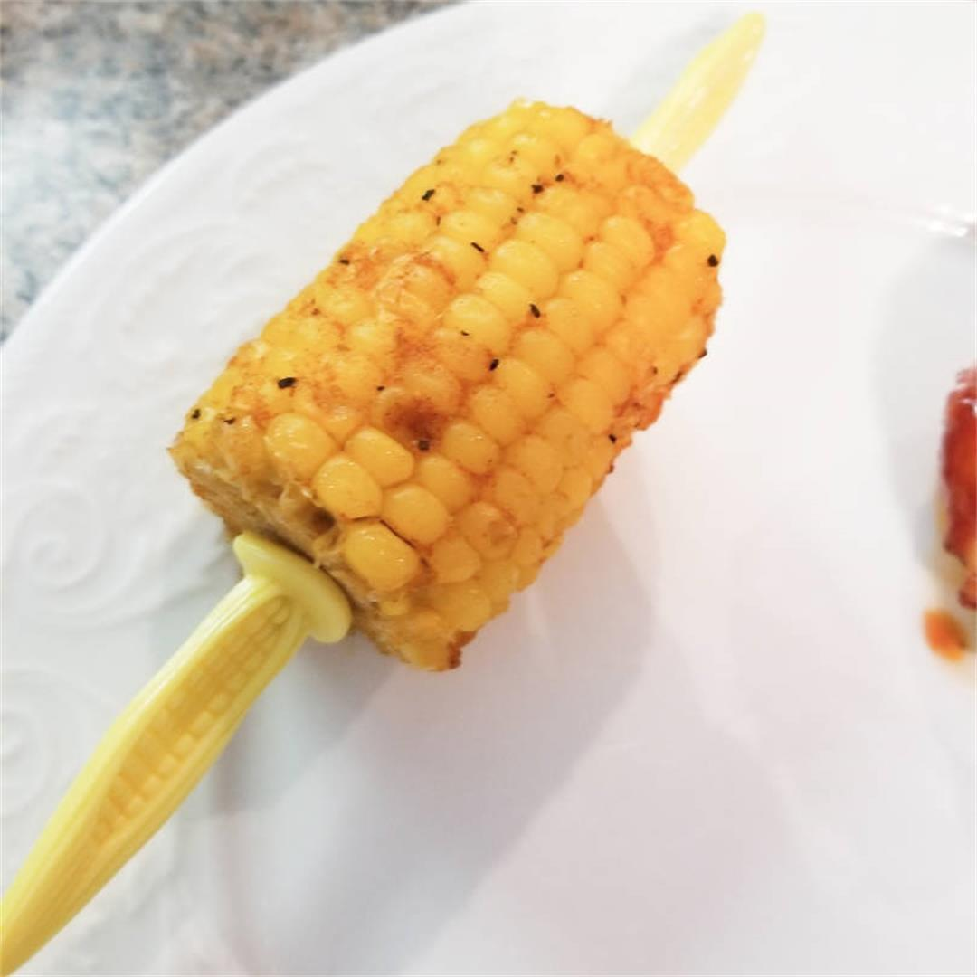 BBQ Oven-Roasted Corn on the Cob