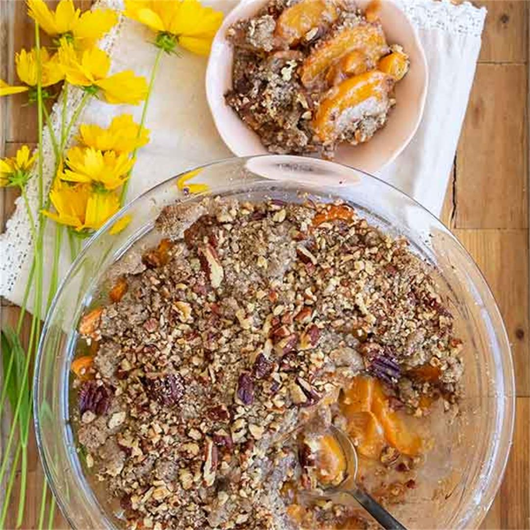 Gluten-Free Apricot Buckwheat Crumble With Pecans