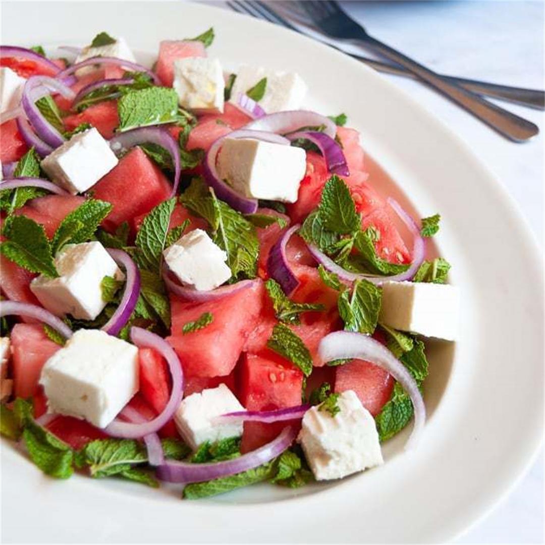 Watermelon, Feta and Mint Salad