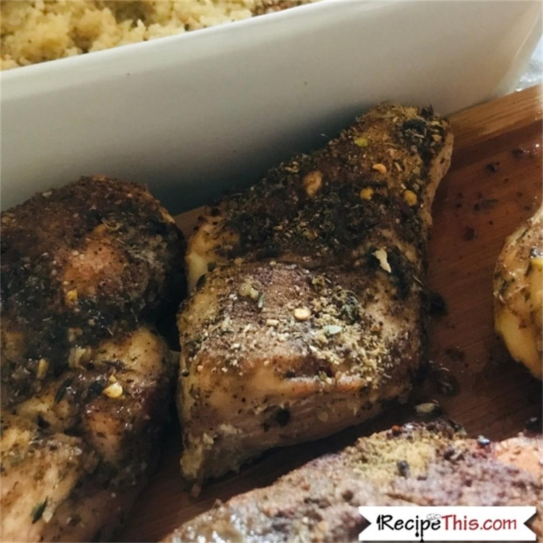 Air Fryer Jerk Chicken With Pumpkin Couscous