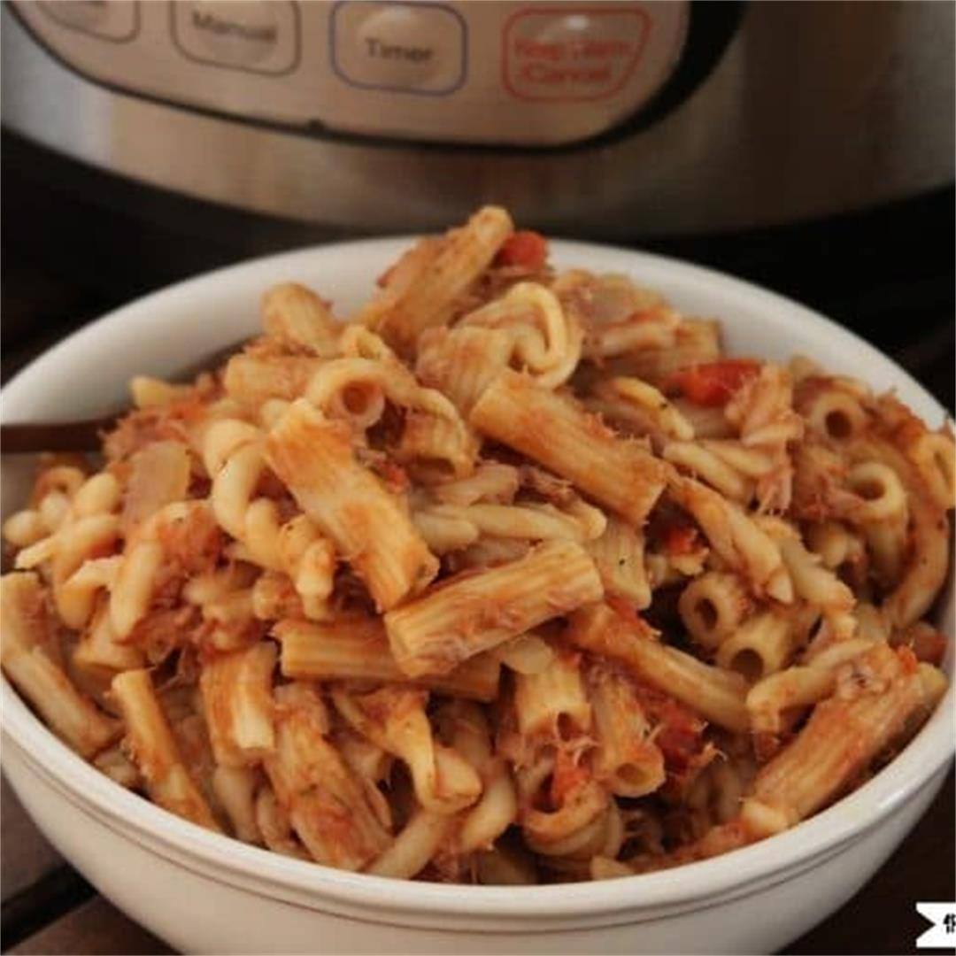 Instant Pot Tuna Pasta Casserole