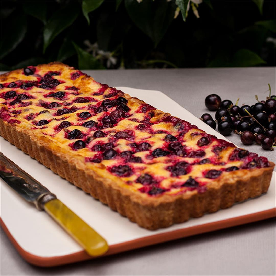 Blackcurrant and Vanilla Cream Tart