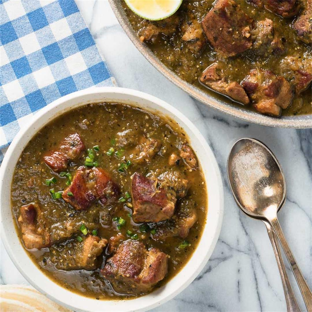 chili verde - pork and tomatillo chili