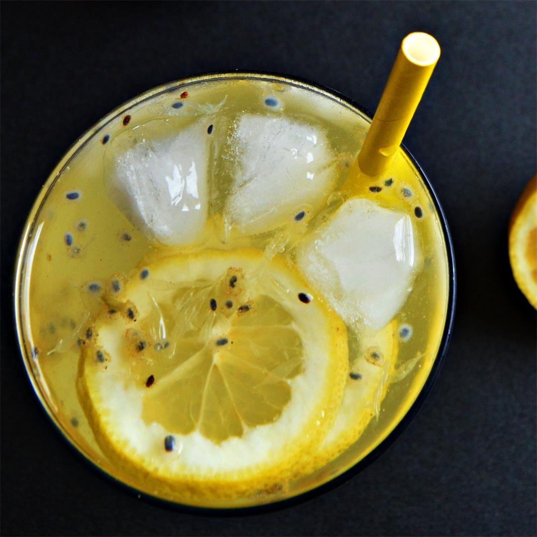 Simple lemonade with basil seeds (Video Recipe)