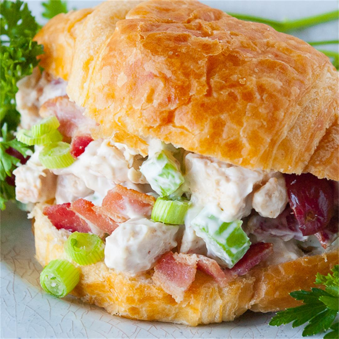 Tasty Chicken Salad Croissants