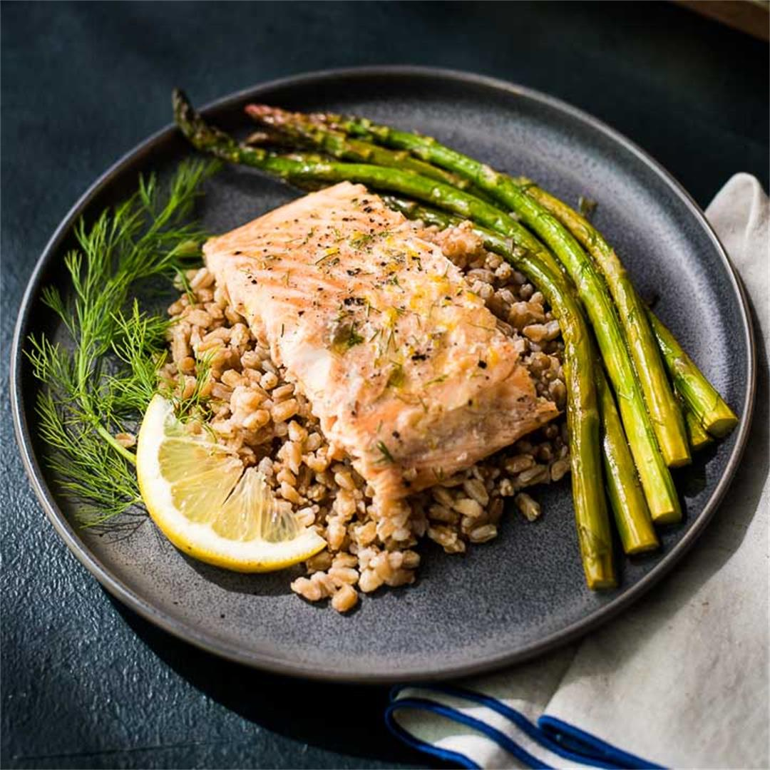 Lemon Dill Salmon and Asparagus