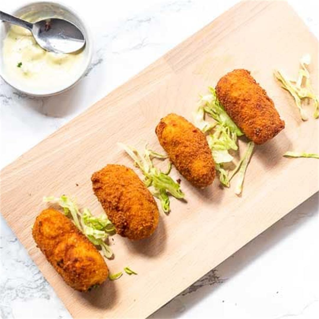 Spanish croquettes with jamon serrano