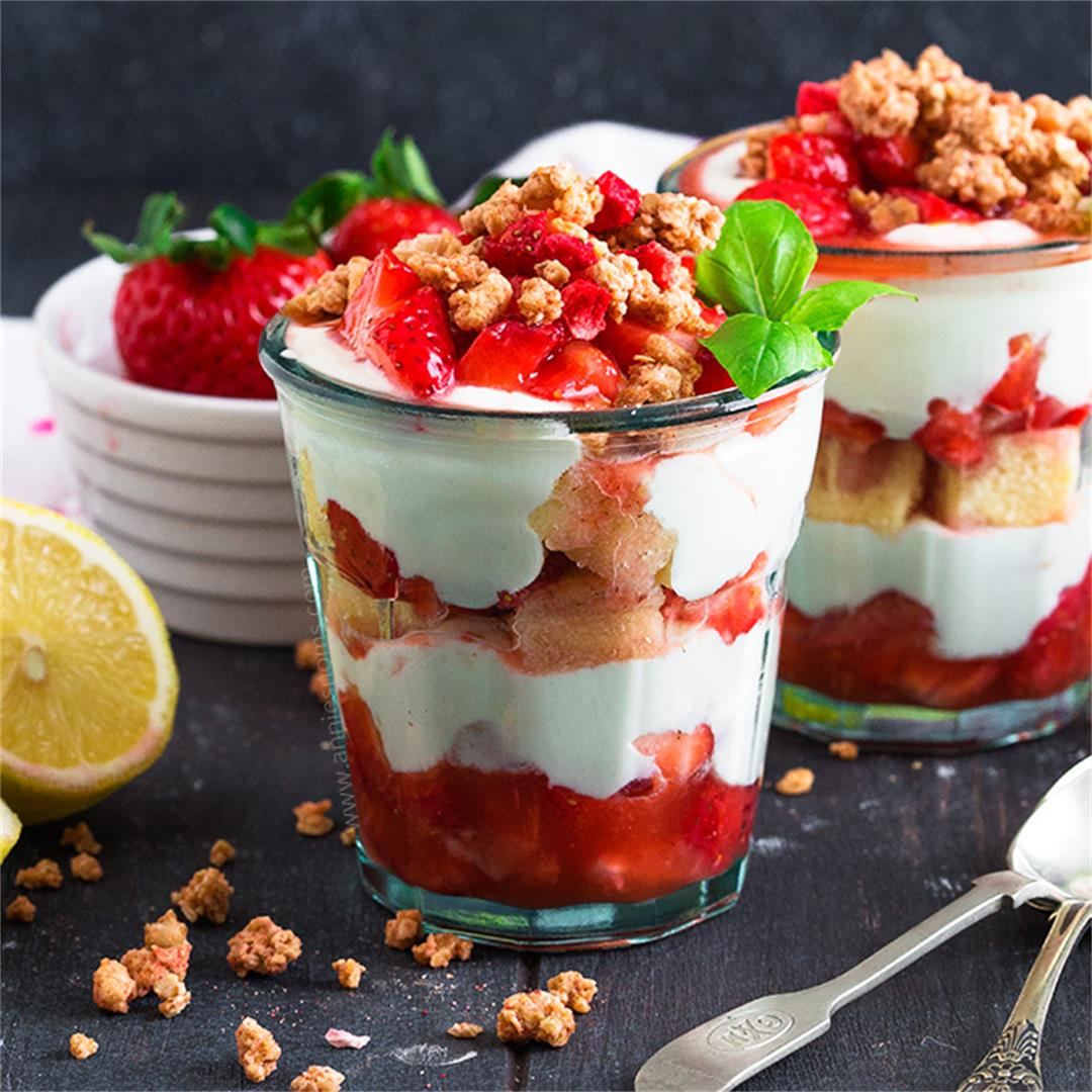 Strawberry and Lemon Parfaits