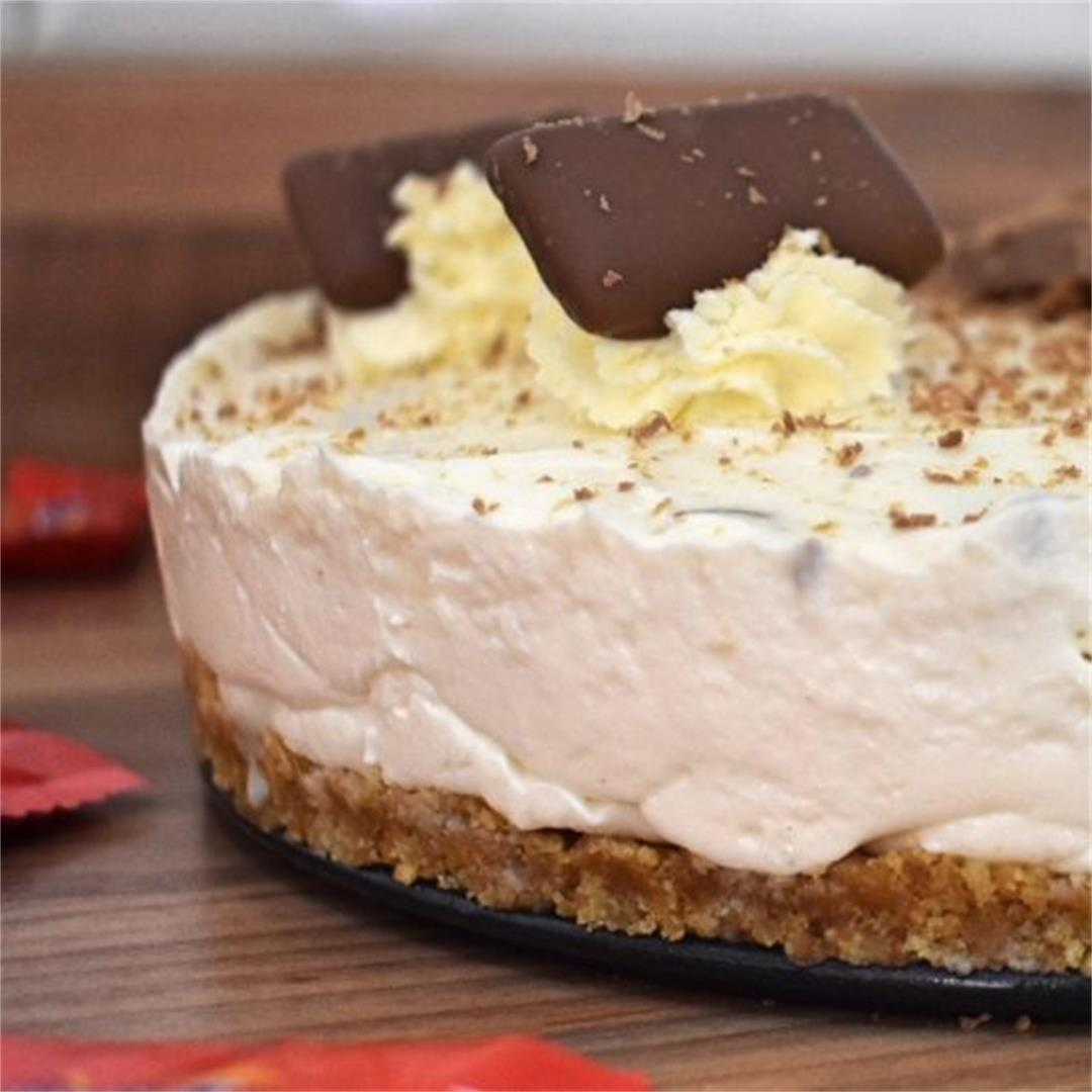 No-Bake Daim Bar Cheesecake • Fabulous Family Food by Donna Dun