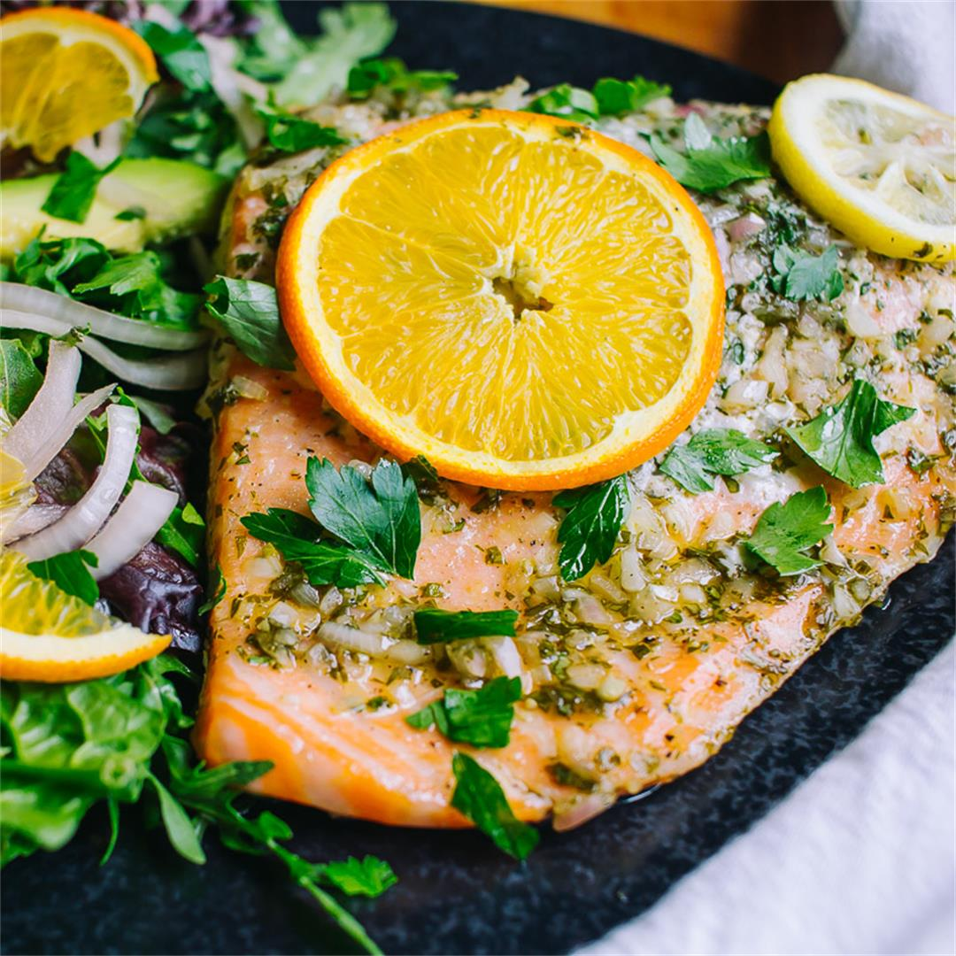 Low Carb Citrus Glazed Salmon