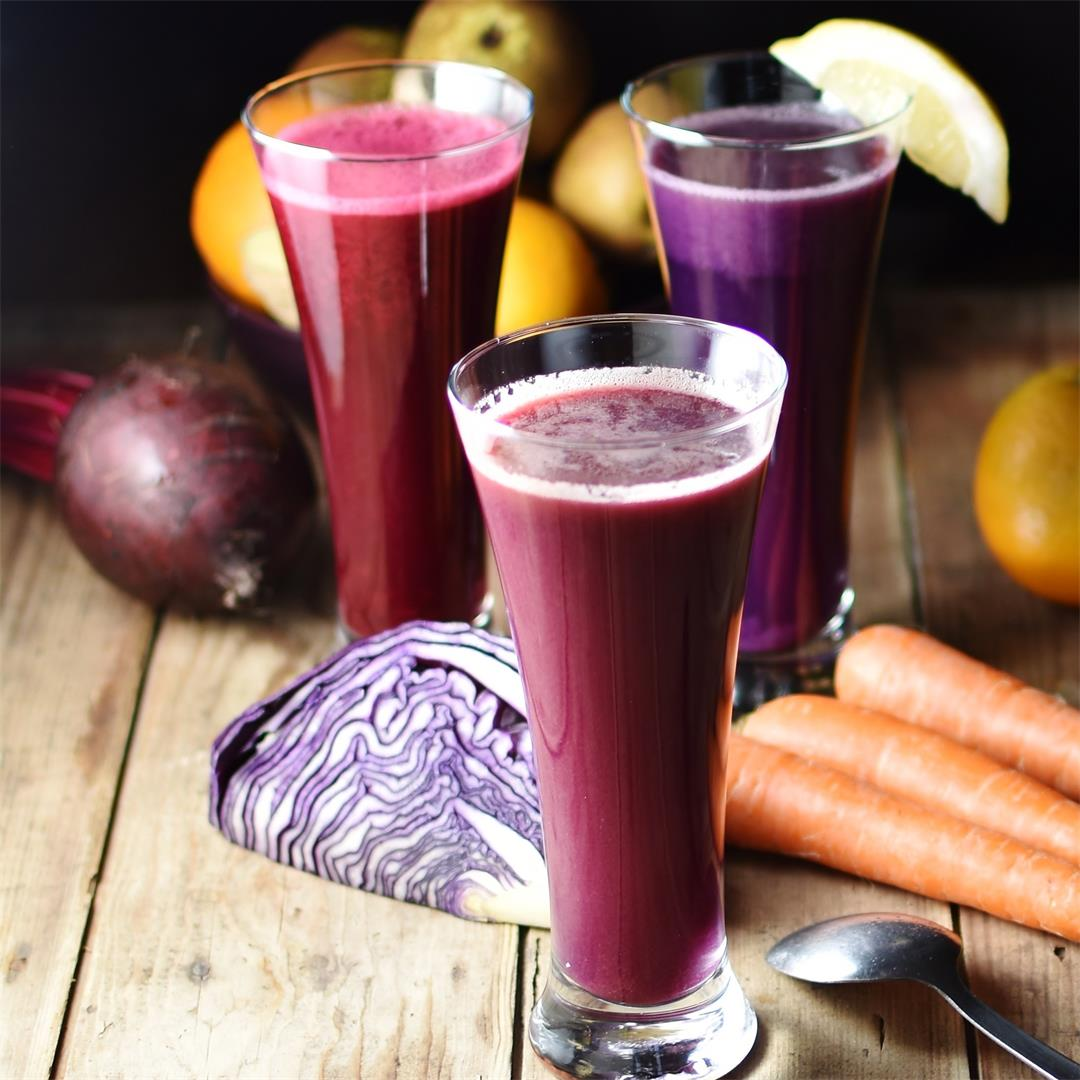Red Cabbage Juice 3 Ways