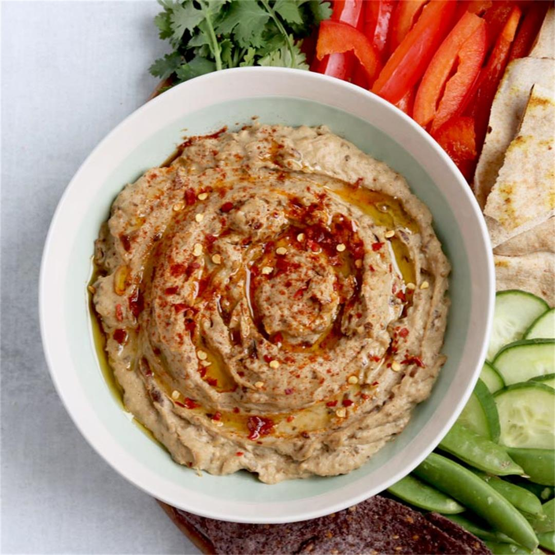 Smoky Eggplant Dip for Sandwiches, Spreads, Kebabs & More