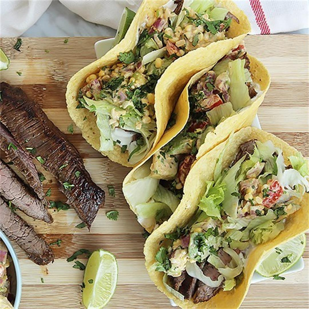 Marinated Flank Steak (Carne Asada) Tacos