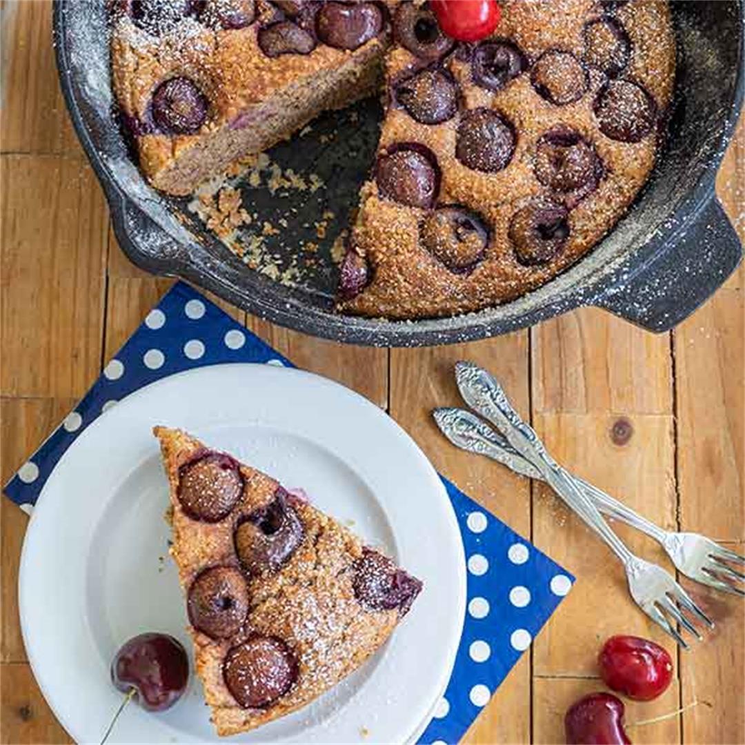 Gluten-Free Healthy Skillet Cherry Breakfast Bread