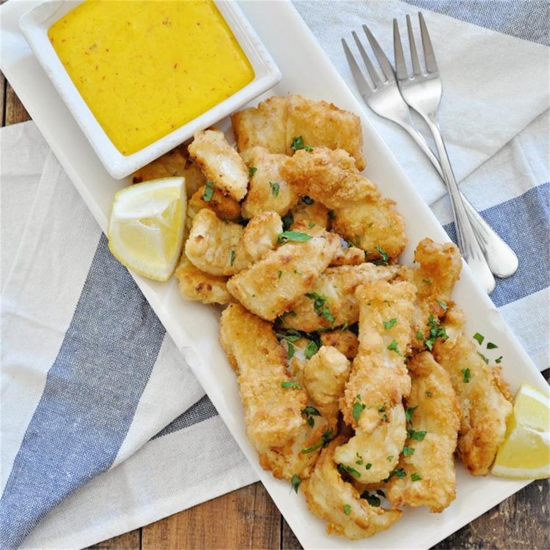 Fried Spanish Squid ¨Rabas Fritas¨ with Saffron Garlic Aioli Re