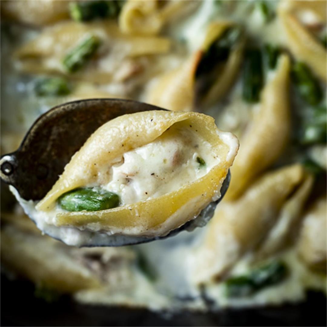 Tuna and Ricotta Stuffed Shells (Freezer Friendly)