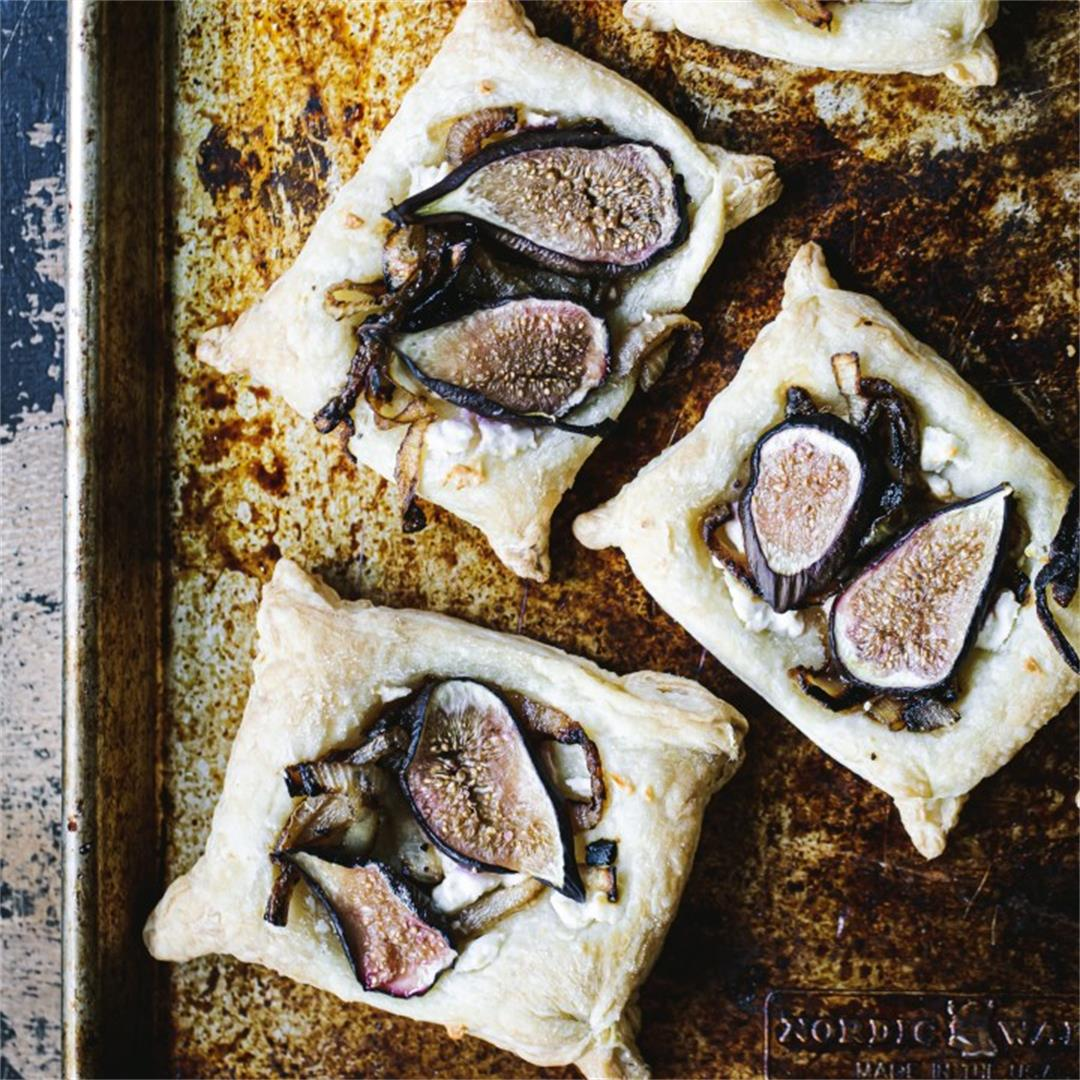 Onion, Feta, & Fig Tarts