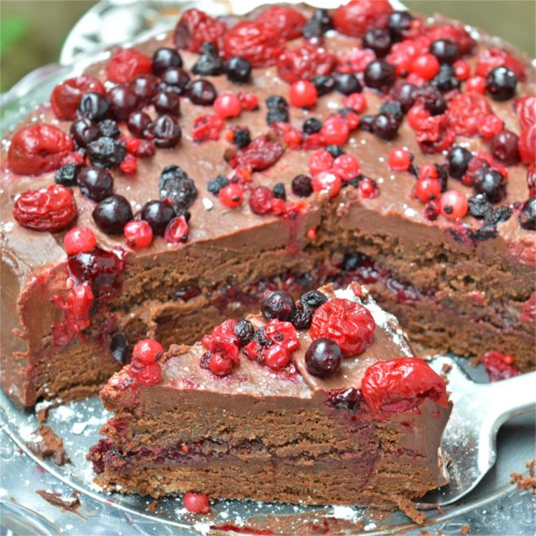Chocolate Berry Torte — Tasty Food for Busy Mums Dessert