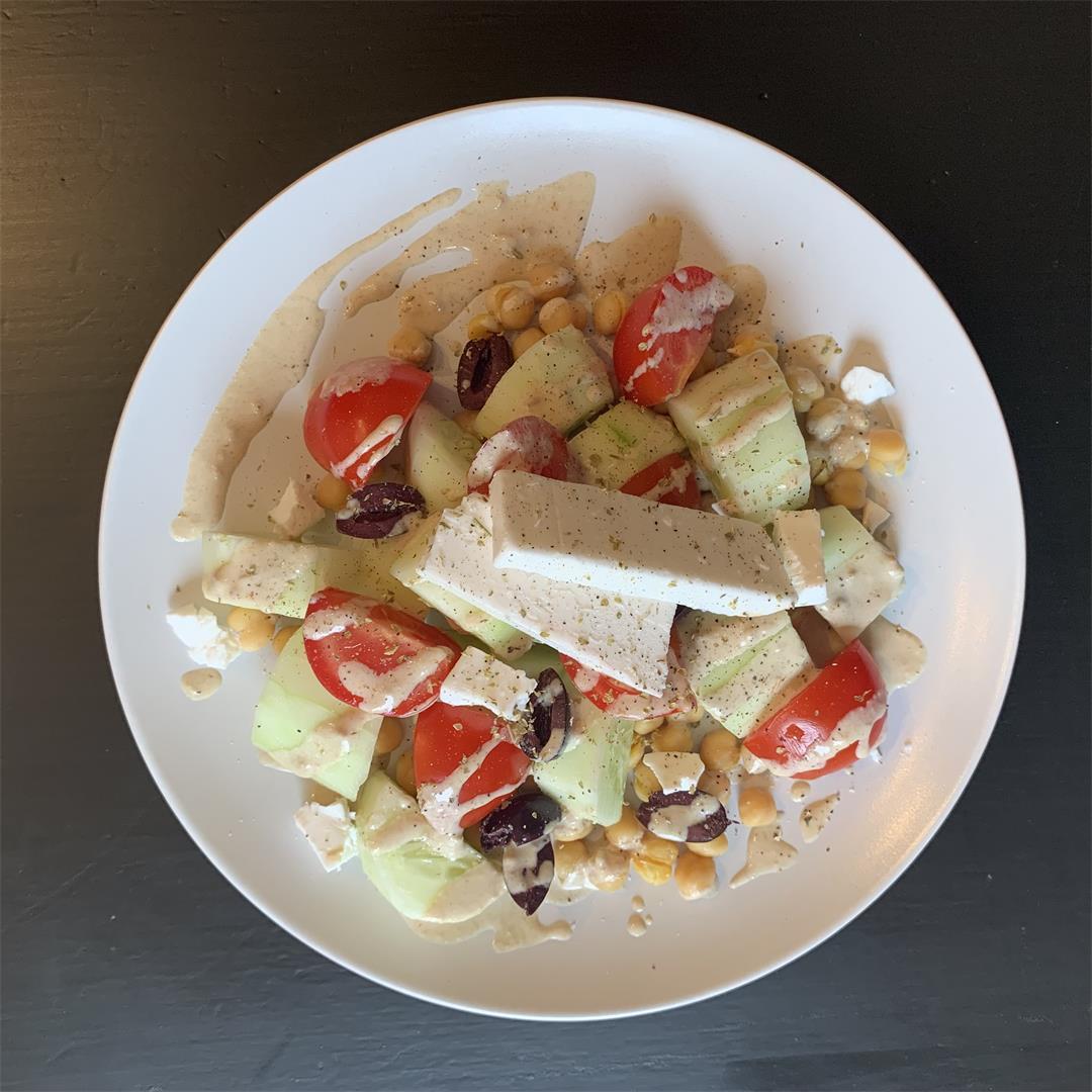 Vegan Mediterranean Salad pack w/Chickpeas