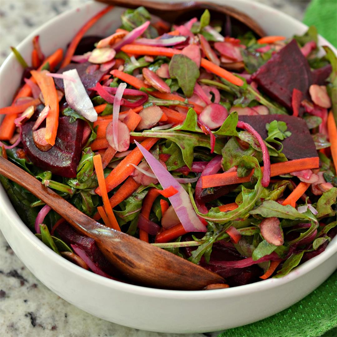 Beet Salad with Honey Mustard Vinaigrette