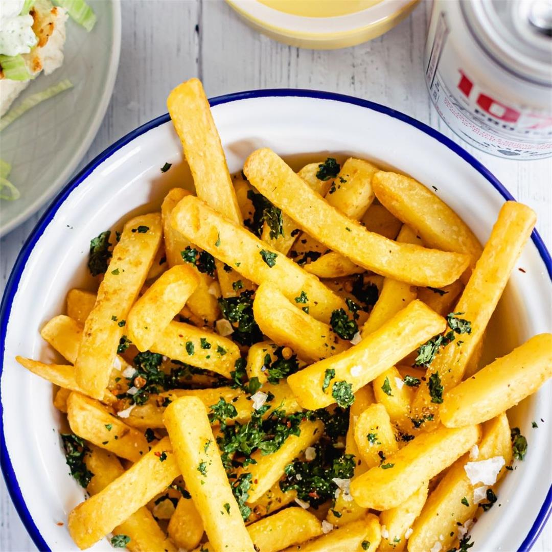 Food Hack Herby Garlic Fries