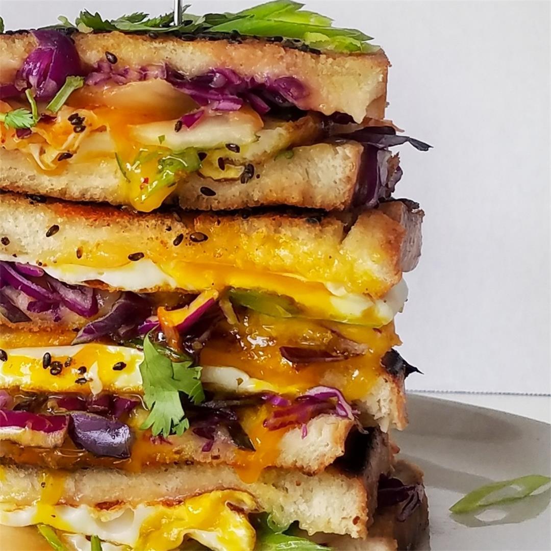 Kimchi Grilled Cheese Breakfast Sandwich