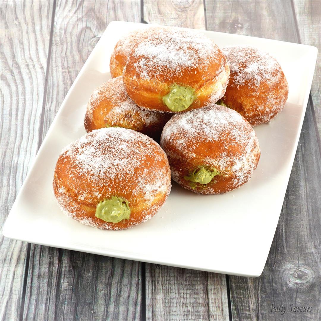 Matcha Cream Filled Donuts