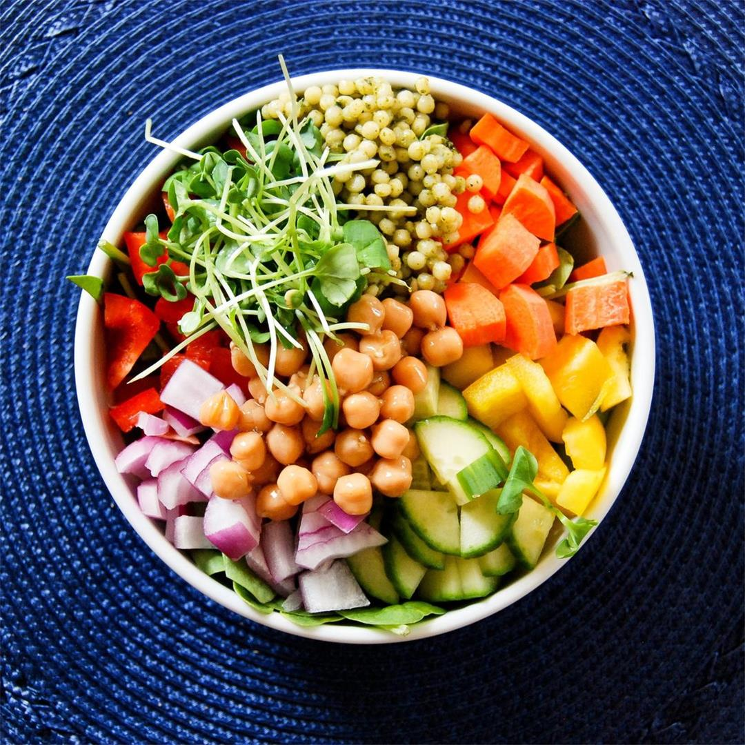Chickpea And Veggie Salad With Dill Dressing