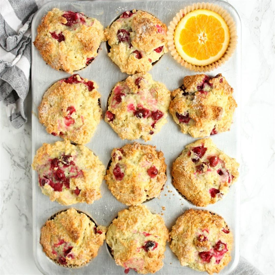 The Best Orange Cranberry Muffins