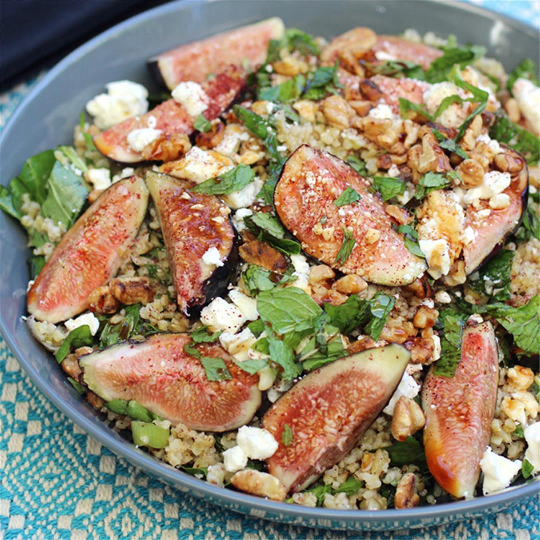 Fig, Walnut & Freekeh Salad