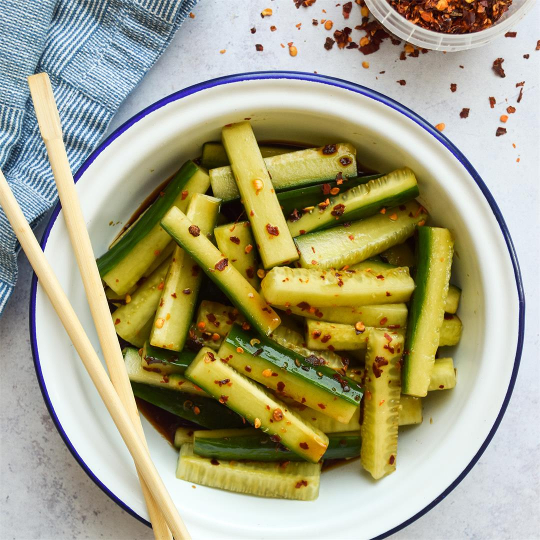 Spicy Chinese Cucumber Salad