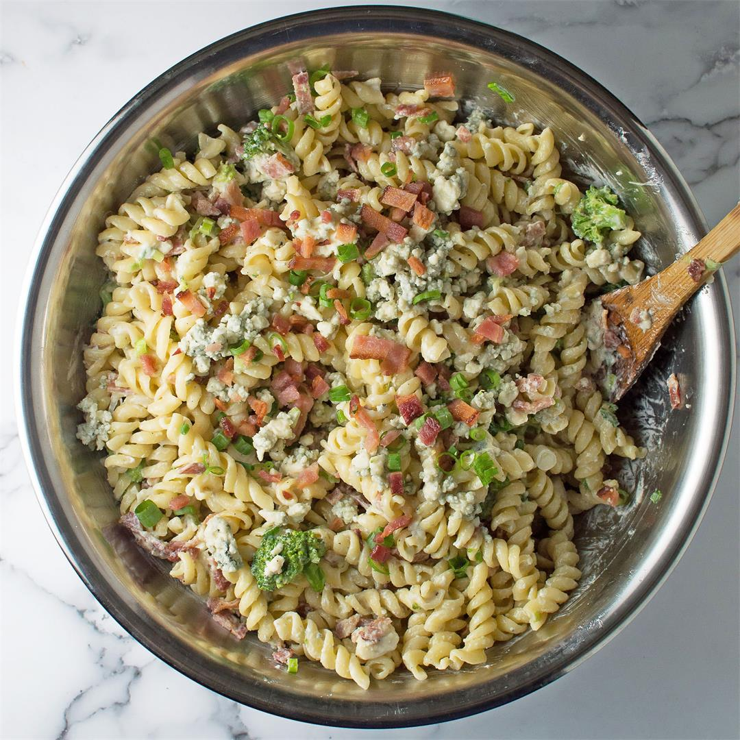 Bacon Blue Cheese Pasta Salad