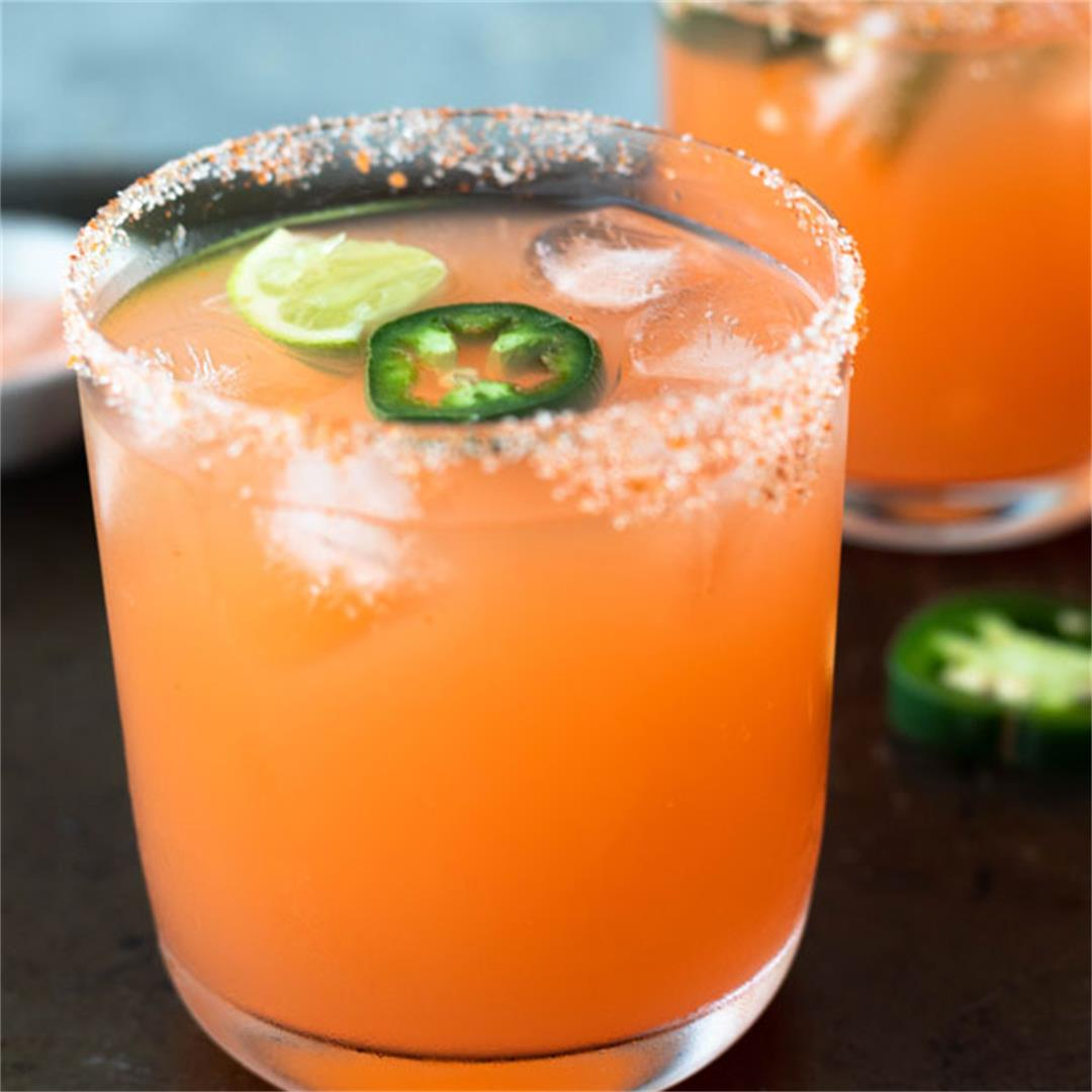 Grapefruit Jalapeno Spicy Margarita