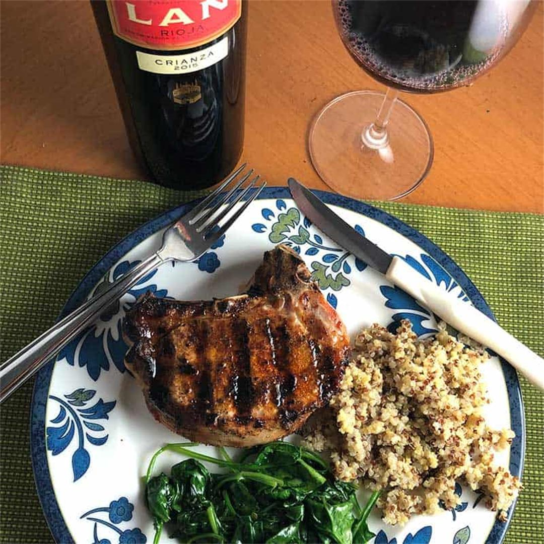 Grilled Paprika Pork Chops with a Rioja