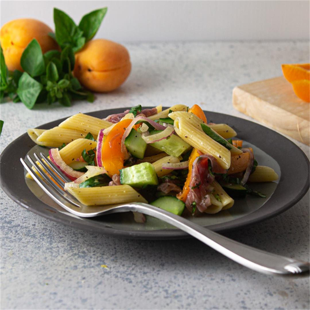 Apricot and Prosciutto Pasta Salad