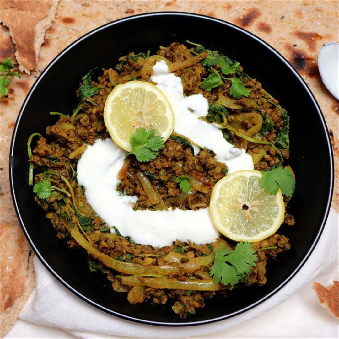 Ginger Curried Lentils (Quick & Easy)