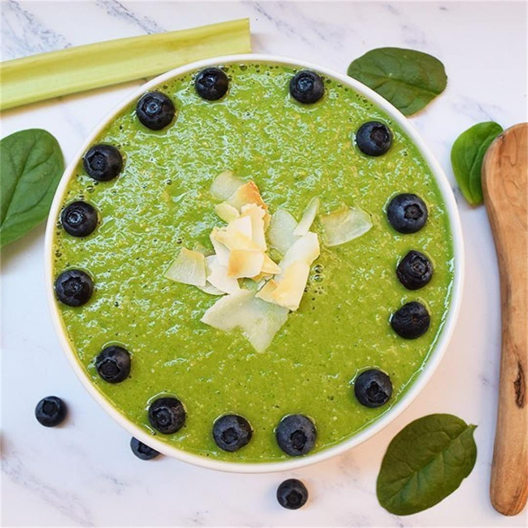 Green Spinach Celery Smoothie Bowl
