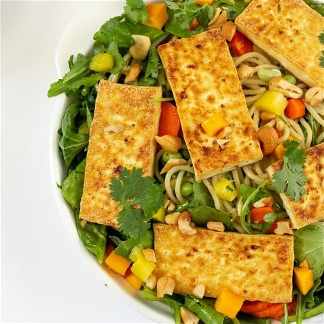 Mango Noodle Salad with Cilantro Coconut Milk Dressing