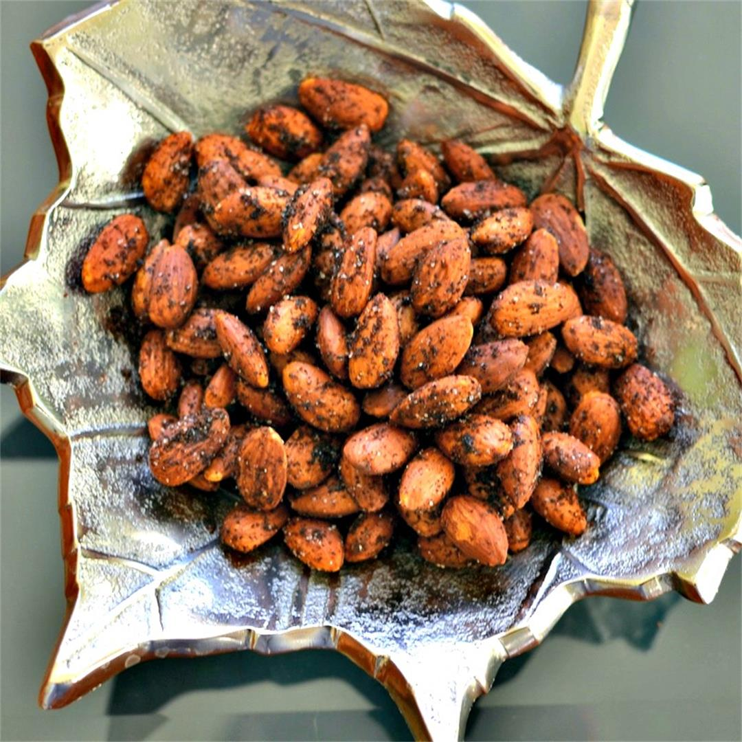 Smoky Spicy Roasted Almonds