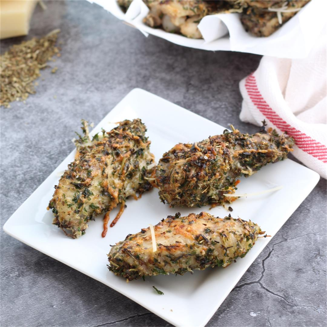 Garlic Parmesan Chicken Wings in the Instant Pot