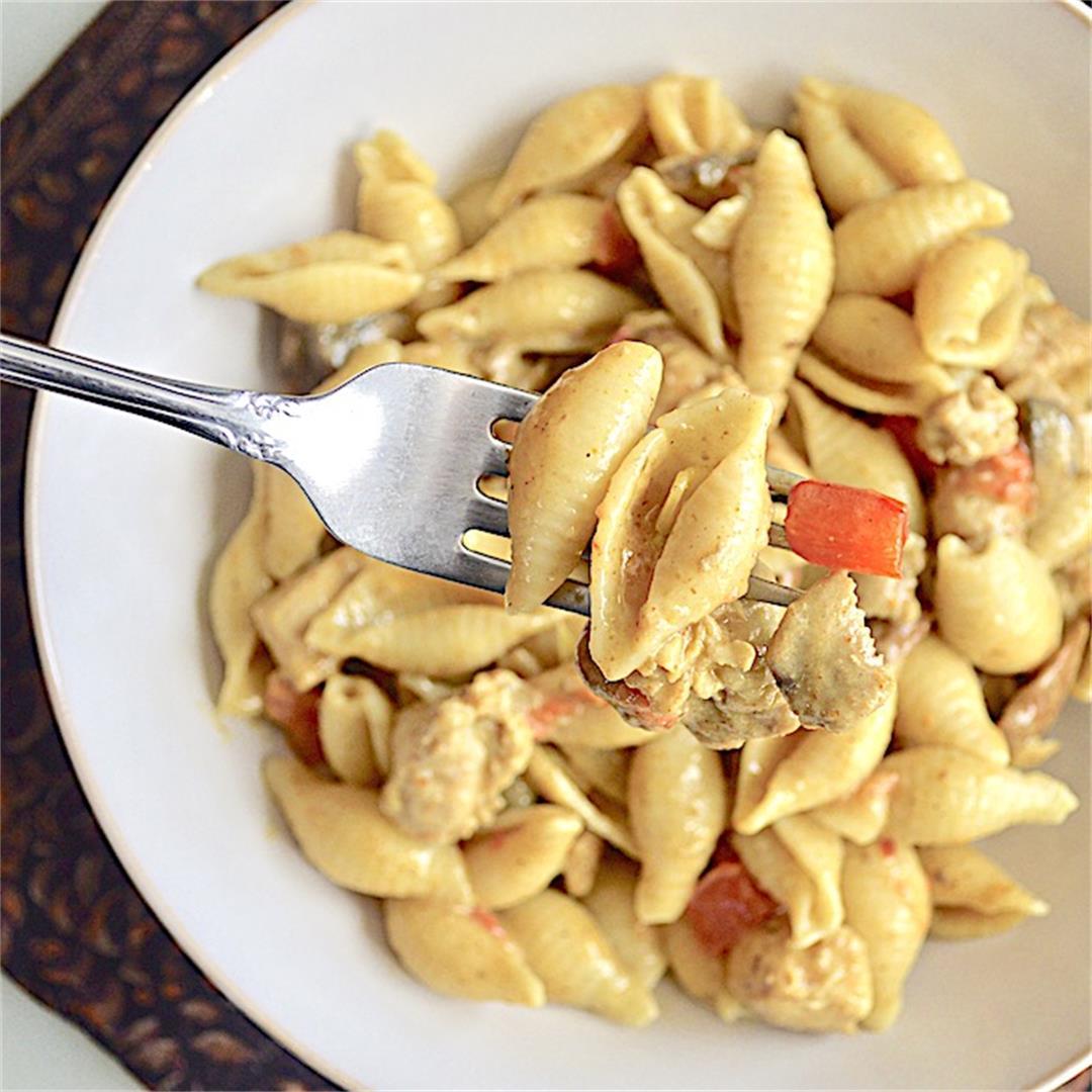 Coconut Curry Chicken Pasta - Jeanie and Lulu's Kitchen