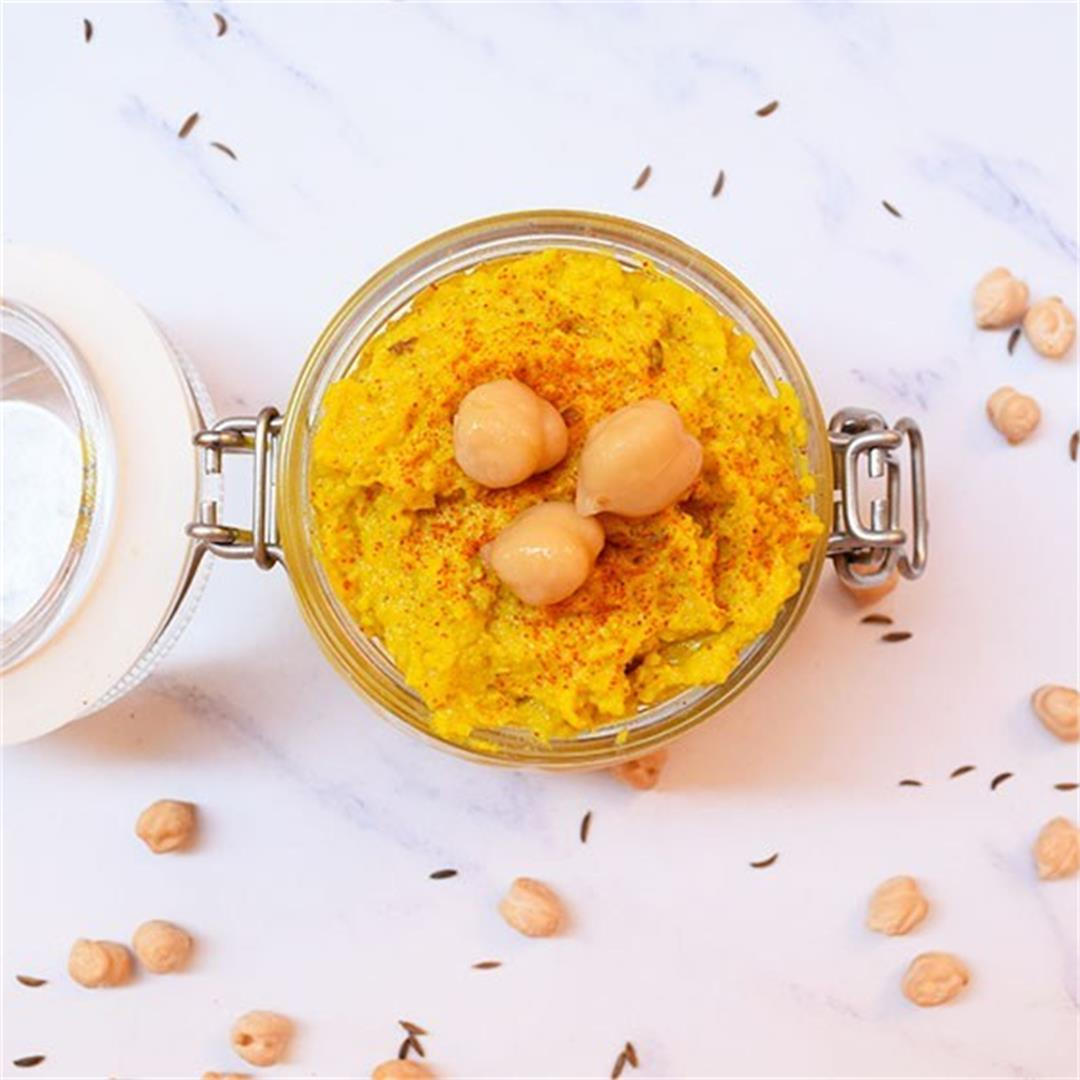Mango Curry Hummus Recipe