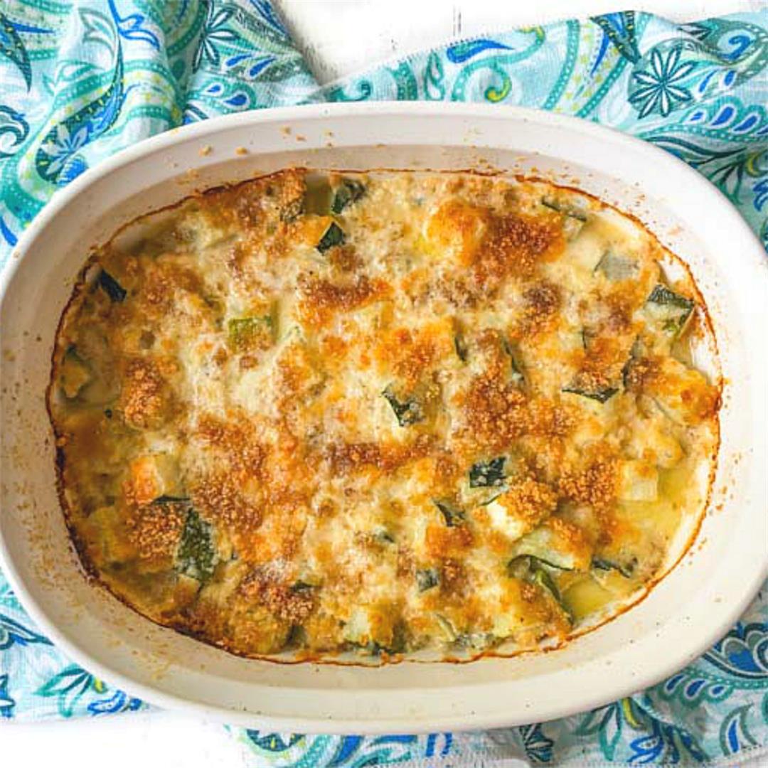 Low Carb Zucchini Au Gratin Casserole