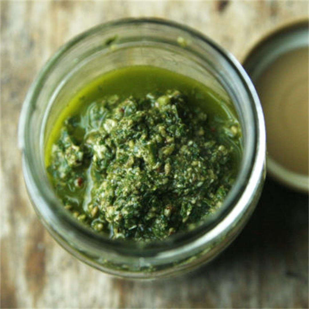 Homemade Homemade Basil Pecan Pesto Recipe
