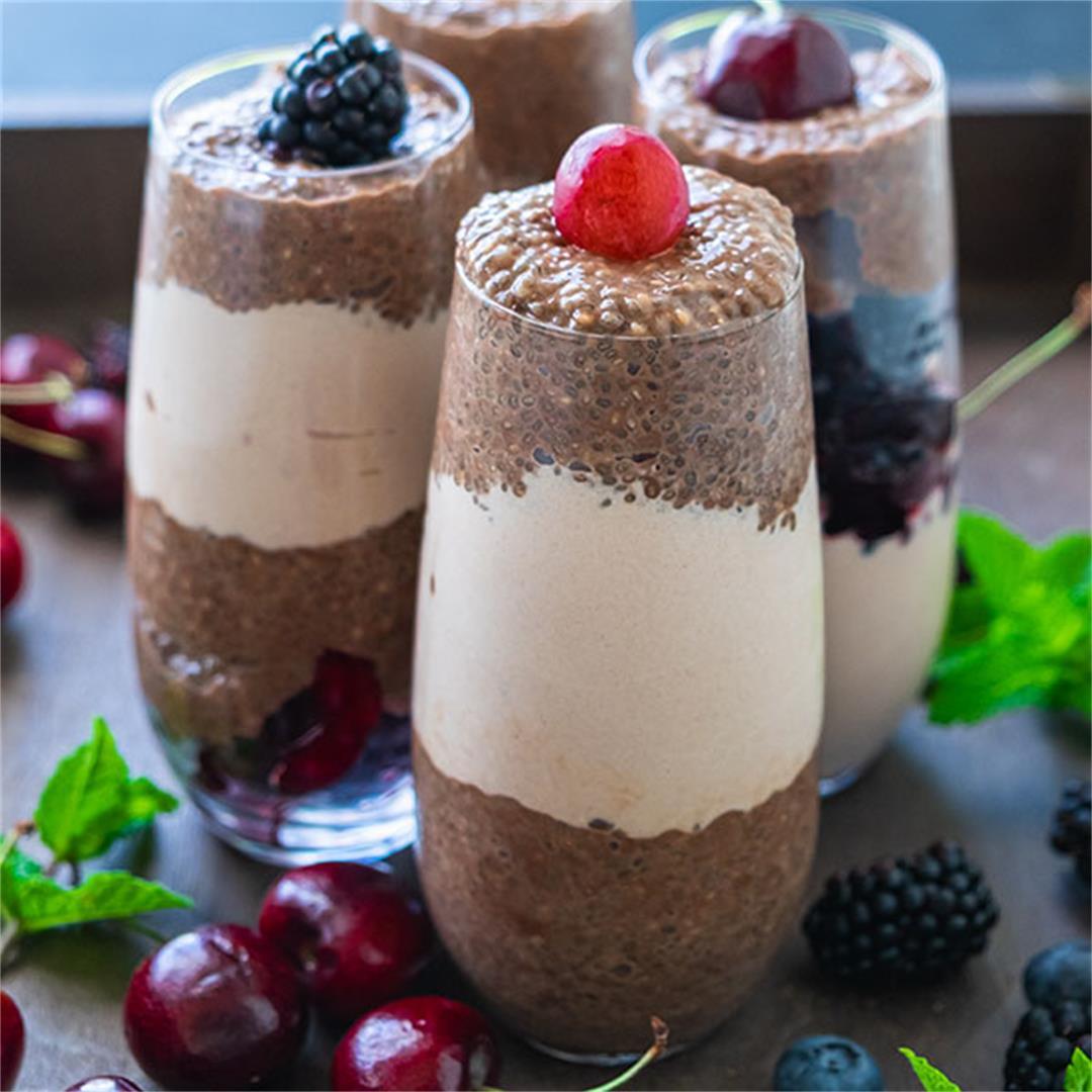 Vegan Mocha Chia Pudding Recipe