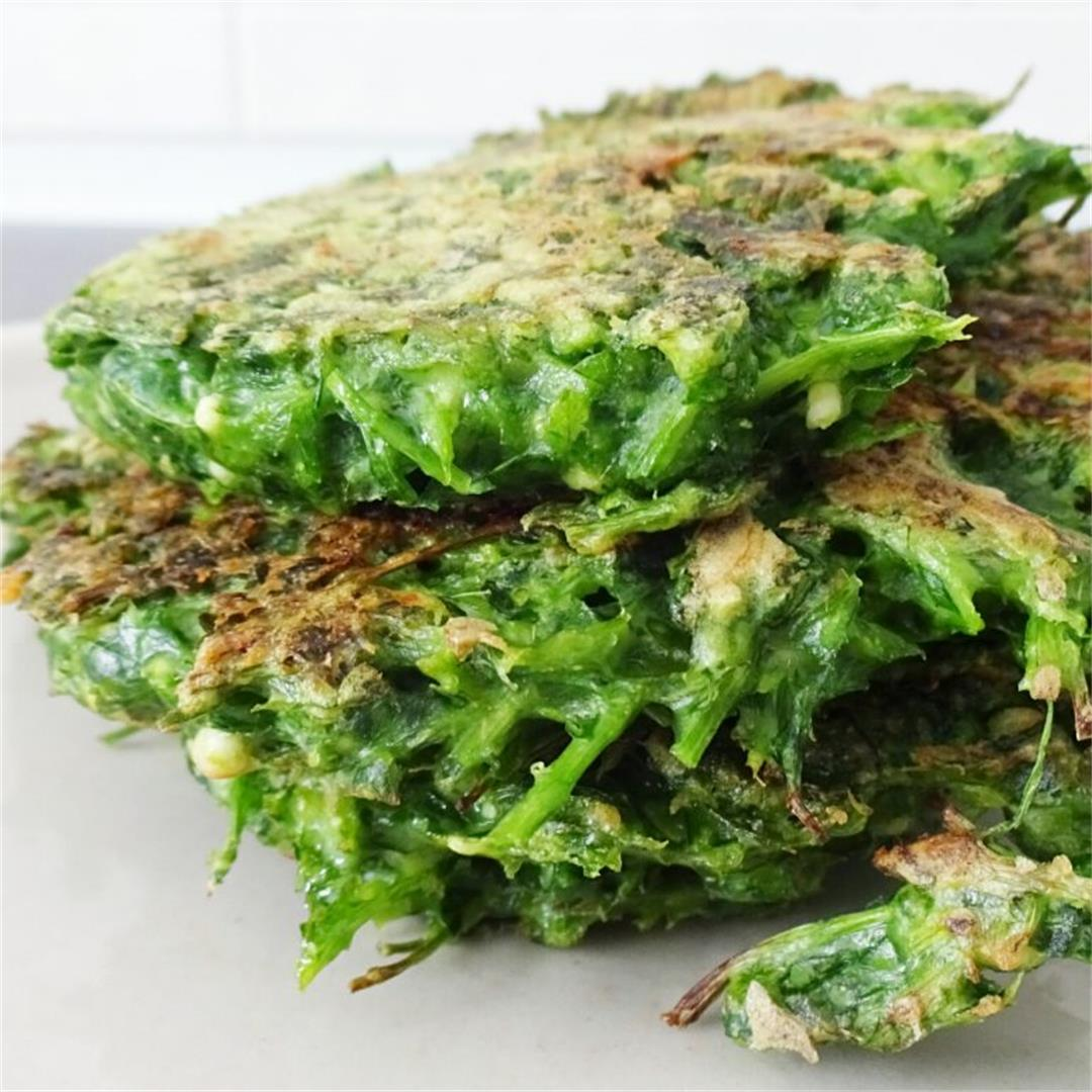 Simple Parsley Fritters with Feta Cheese