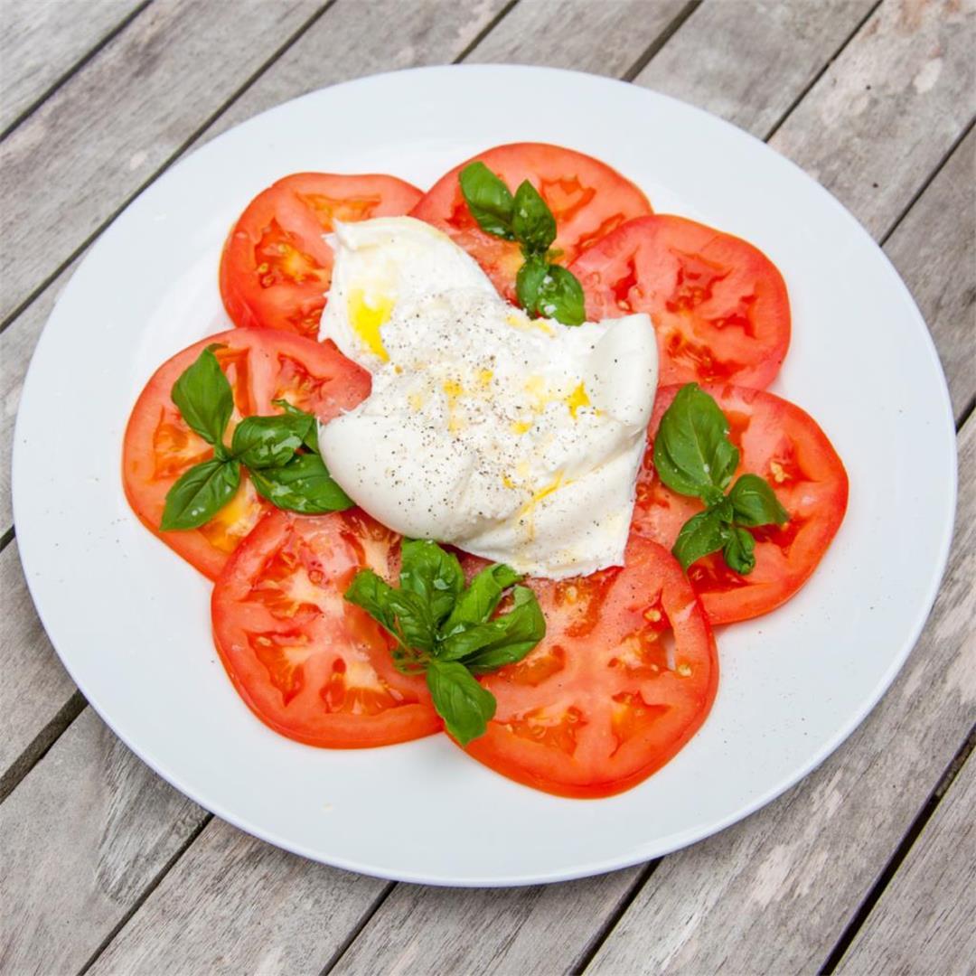 Burrata & Bull Tomato Salad