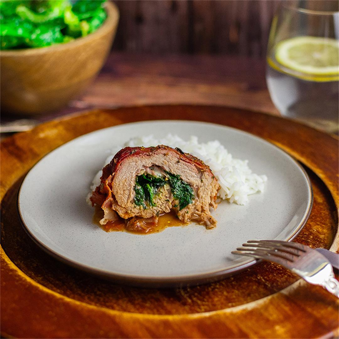 Pork stuffed with Spinach